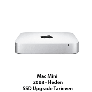 Mac mini 2008 - Heden ssd upgrade tarieven